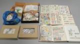 Samling frimærker, hele verden(10 diverse papkasser)