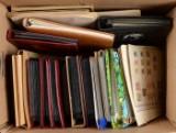 1 flyttekasse med frimærker
