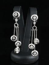 18kt diamond dangle earrings approx. 1.00ct