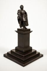 Okänd konstnär, skulptur i bronserad metall, härförare