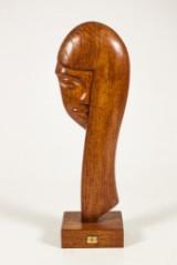 Skulptur i teak, Brigitte Bardot
