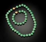 Jadehalskæde og armbånd (2)