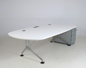 antonio citterio schreibtisch mit rollcontainer modell spatio f r vitra. Black Bedroom Furniture Sets. Home Design Ideas