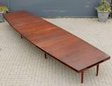 Hans J. Wegner. Three-section conference table, mahogany (3)