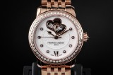 Frederique Constant Heart Beat diamond watch, rose gilt steel, ref. FC-310WHF2PD4B3