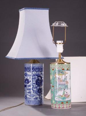 Orientalskekinesiske bordlamper. 1900 - tallets sidste del. 2
