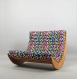 Verner Panton, topersoners gyngestol/dobbelt loungestol model Relaxer 2 fremstillet hos Rosenthal studio-line
