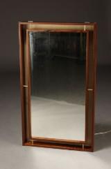 Dansk møbelproducent. Spejl, palisander, 1980'erne