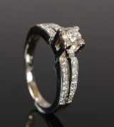 Diamond ring, approx. 0.64 ct.