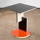 Gerrit Rietveld, a side table, Schröder, for Cassina, Italy, De Stijl