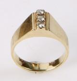 Diamantring, 14 kt guld, ca. 0.15 ct.