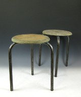 Jean Prouve, tripod pair of stools/work stool for Ateliers Jean Prouve (2)