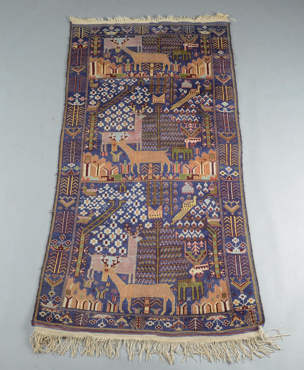 Persisk Beluch figuraltæppe 210 x 113 cm - Persisk Beluch figuraltæppe, uld på uld. 210 x 113 cm