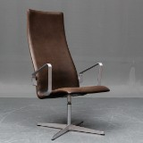 Arne Jacobsen. Oxford lounge chair, Elegance leather