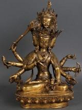 Tibetan Buddha, bronze, 19th century