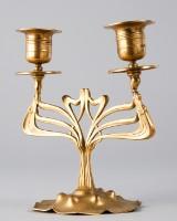 Osiris Nürnberg. Lysekrone af forgyldt tin. Formgivet af Friedrich Adler