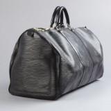 Louis Vuitton, weekend bag Keepall 55 i svart