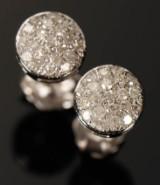 Diamant ørestikkere. 14 kt guld, 0.38 ct