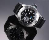 Jaeger-LeCoultre 'Master Compressor Diving GMT'. Substantial men's watch, titanium, c. 2014