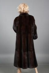 Kopenhagen Fur. Burgundy mink coat, size 38/40