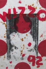 Ford Beckman, serigrafi/akryl på papir, Clown-Basel 1992