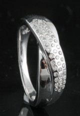 Diamond ring in 14kt gold approx. 0.19ct