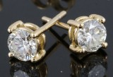 Earrings in 18kt yellow gold set with diamonds 0.84 ct.