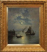 Anton Dahl, oil on canvas, signed and dated 1896