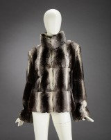 A short jacket, Chinchilla, size 38/40