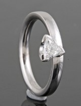Diamond solitaire ring in 18kt approx. 0.50ct