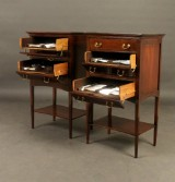 Johan Rohde for Georg Jensen, silver cutlers, Sterling silver, 'Konge/Acorn' for 8 people, 2 small cutlery cabinets (203)