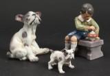 Dahl Jensen. Samling figurer af porcelæn (3)