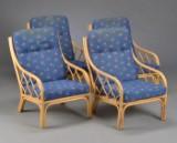Fire lænestole af imiteret bambus (4)