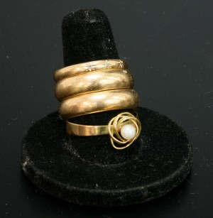 Ringar, 4 st 18K guld ca 22 gr. Denna vara har satts till omförsäljning under nytt varunummer2081050