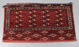 Turkmensk Chuval, handknuten, 117x62cm