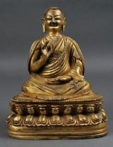 Monk, bronze, Tibet/China, 20th century?