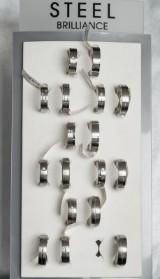 Palet vielsesringe - stål med brillanter (17)