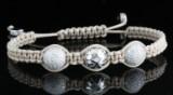 18kt hand woven diamond bracelet 1.50ct