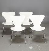 Arne Jacobsen, Fritz Hansen, stolar 3107 'Sjuan' 4 st