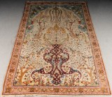Persin hand-knotted carpet, presumably Isfahan, 318x202 cm