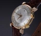 Vintage LeCoultre 'Memovox World Time' men's watch, gilt metal, 1950's