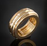 Rotating brilliant-cut diamond eternity ring approx. 0.16 ct.