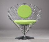 Verner Panton. 'Wirecone chair'