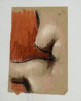 Steffen Jørgensen, oliekridt på papir, 'Venus'.