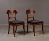 Stolar, ett par, Karl Johan-stil (2)