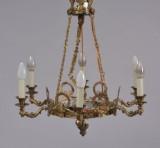 Loftlampe / lysekrone, bronce, 1900-tallet