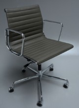 Charles Eames. Office chair, model EA-117, 'Full leather'