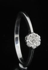 18kt diamond ring approx. 0.18ct