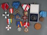 Samling Ordner og medaljer (10)