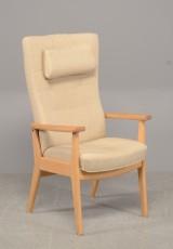 Farstrup, lænestol, model Otium, bøg/uld